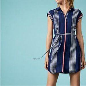 Express stripe button down dress